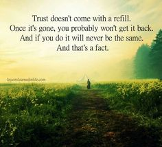 Trust damaged