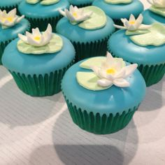 Lilly pad cupcakes.