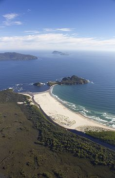 Louisa Island viewed from a helicopter. Southwest National Park, Tasmania.  De Witt, Flat Witch and Maatsuyker Island in background.