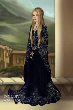 Lady Vondura in King's landing ~ by Vondura ~ created using the LotR Hobbit doll maker | DollDivine.com