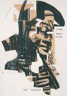 08. N'toko, Praha Depart35 x 50cm2 colorsEdition of...