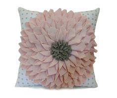 Your place to buy and sell all things handmade Felt Flower Pillow, Felt Pillow, Pillow Room, Cotton Pillow, Monogram Pillows, Gold Pillows, Velvet Pillows, Giant Flowers, Felt Flowers