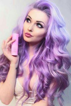 38 Shades of Purple Hair Color Ideas You Will Love – Hair Colour Style – Life with Alyda 38 Schattierungen von Lila Haarfarbe Ideen, die … Hair Color Purple, Cool Hair Color, Hair Colors, Pastel Purple Hair, Pastel Outfit, Purple Lilac, Long Curly Hair, Curly Hair Styles, Lavender Hair