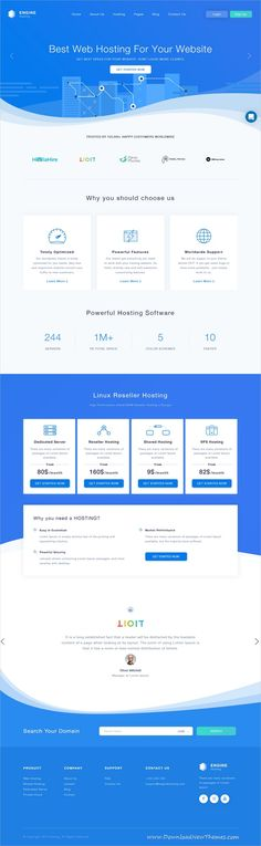 Engine Hosting is clean and modern design 2in1 responsive bootstrap #HTML #template for #web #hosting company website to live preview & download click on image or Visit