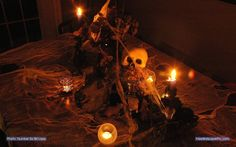 Spooky Halloween scene. Photo: Number Six Bill Lapp, Edited by: T ...
