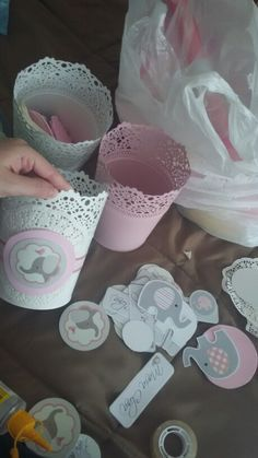 Trendy baby shower decorations for girls princess themed parties Ideas - - Babyparty - Elephant Party, Elephant Theme, Elephant Baby Showers, Baby Shower Favors, Baby Shower Cakes, Baby Shower Gifts, Baby Shower Parties, Theme Bapteme, Mesas Para Baby Shower