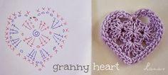 Horgolás minden mennyiségben!!!: Horgolt szív minták