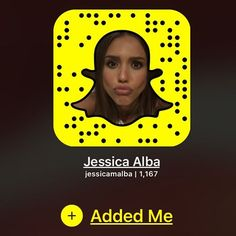 It's all happening on my -add me💛 Snapchat Girl Usernames, Snapchat Accounts To Follow, How To Get Snapchat, Snapchat Names, Snapchat Girls, Snapchat Add, Jessica Alba, Famous People Snapchat, Celebrity Snapchats