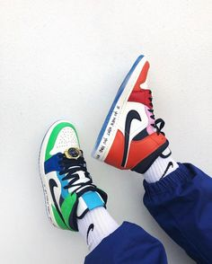 Aesthetic, Air Jordan, And Colorful Dr Shoes, Swag Shoes, Nike Air Shoes, Hype Shoes, Me Too Shoes, Shoes Sneakers, Shoes Jordans, Jordan Sneakers, Baby Shoes