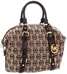 Michael Kors Bedford Satchel In MK Monogram Jacquard In Black Michael Kors, http://www.amazon.com/dp/B006K20DKO/ref=cm_sw_r_pi_dp_fr3Vqb046SY4V