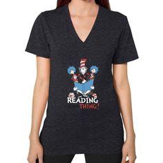 Read Across America V-Neck (on woman) Shirt