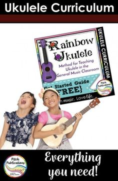 Looking for a way to incorporate Ukulele into your elementary or early middle school music classroom? Looking for a great motivation system for students and a wonderful curriculum for ukulele in the music classroom? Look no further! Rainbow Ukulele is for you! This PDF discusses the full program and how I got things set up at school. Check it out! #RainbowUkulele #PitchPublications #elementarymusic #elmused