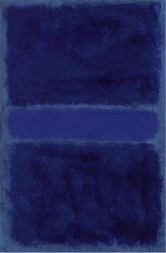 Rothko #blue                                                                                                                                                                                 Plus