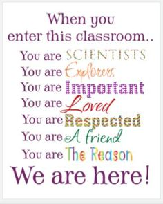I need a sign like this for my classroom