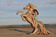 Sculptures de bois flotté par Jeff Uitto   sculptures en bois flotte 1