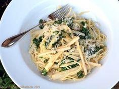 Chili und Ciabatta: Spaghetti mit Rucola und Spargel