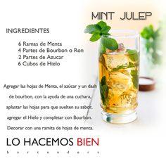 Mint Julep - Festejá con Estilo! de LO HACEMOS BIEN bartenders Como preparar un Mint Julep - Recipie How to prepare a Mint Julep - Party with style!