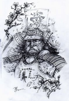 Самурай  арт для тату