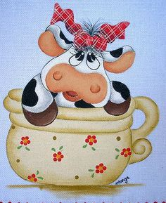 Fabric Painting, Painting On Wood, Farm Cartoon, Wood Craft Patterns, Cow Pictures, Pumpkin Art, Cute Cows, Cow Art, Diy Crafts Hacks