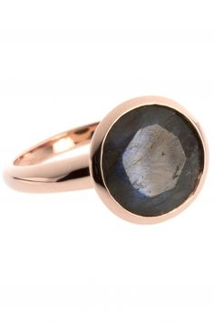 rose gold plated #labradorite #ring I designed by iris y. for NEW ONE I NEWONE-SHOP.COM