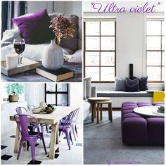 Ultra violet, arredamento e home decor Ultra Violet, Office Desk, Home Decor, Furniture, Alchemy, Desk Office, Decoration Home, Desk, Room Decor