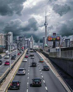 Gardner Expressway into Downtown Toronto Toronto Canada, Toronto City, Downtown Toronto, Canada Canada, Toronto Photography, Nature Photography, Travel Photography, Urban Photography, Beautiful World