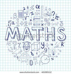 Maths hand drawn vector illustration with doodle mathematical formulas, numbers .Maths hand drawn vector illustration with doodle mathematical formulas, numbers and objects, isolated on exercise book sheet. Doodle Icon, Doodle Art, Mathematical Drawing, Project Cover Page, School Binder Covers, Notebook Doodles, Bujo Doodles, Exercise Book, Binder Covers