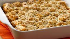 Garlic and Parmesan monkey bread- Pillsbury can crescent dinner rolls or can Crescent Dough, Parmesan cheese, garlic, Italian seasoning.
