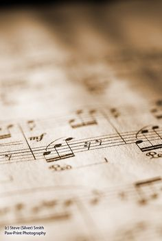 sheet music in sepia tone by ste7ee's