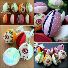 Velikonoční vajíčka - falešný vkládaný patchwork.