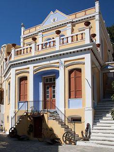 Symi Nautical Museum, Symi Island / by Tom Gomez Classical Architecture, Amazing Architecture, Art And Architecture, Beautiful Islands, Beautiful Beaches, Old Greek, Greece Islands, Greece Travel, Monuments