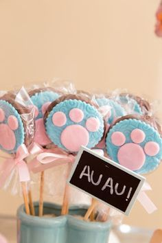 Puppy Party By Bella Fiore. Puppy Birthday Parties, Puppy Party, Cat Birthday, Cat Party, Animal Birthday, Paw Patrol Party Supplies, Paw Patrol Birthday Girl, Snoopy Party, Dog Bakery