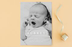 """Editorial Nickname"" Birth Announcements by Lehan Veenker at minted.com"
