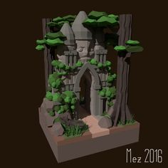 I just wanted to do some Jungle-Temple Stuff for the LowPoly reddit contest, so this happend Made with Blender.