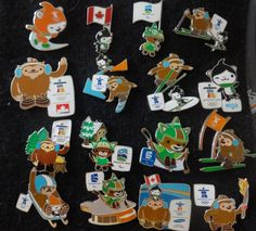Vancouver Olympic Mascot Pin 2010 set of 16 Rio  | eBay