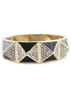 Gold Crystal Cones Bracelet - Sheinside.com