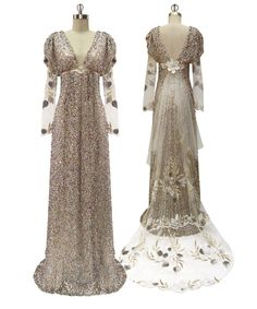 Rennaissance-Medieval girl's wedding dress of her dreams!  Claire Pettibone's 2011 collection!  This one is Dragonfly - Spirit of the Night.  Watch it walked in at http://weddingpartyextras.blogspot.com