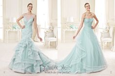 #Tiffany: #NicoleSpose color trend of 2015.  Which dress do you prefer?  www.nicolespose.it