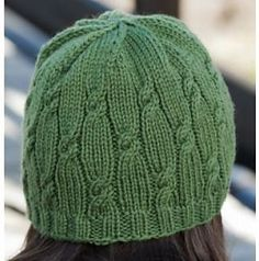 Cabled ribbed hat free knitting pattern