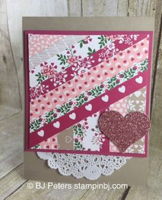 Love Blossoms, Blushing Bride Glimmer Paper, Stampin' Up!, BJ Peters
