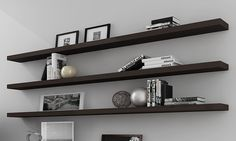I'd like to put some floating shelves in the study and maybe the master bedroom