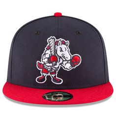 New Era Binghamton Rumble Ponies Navy Red Alternate 2 Authentic Collection  On-Field 59FIFTY Fitted Hat. Minor League ... 1efea1d82c0