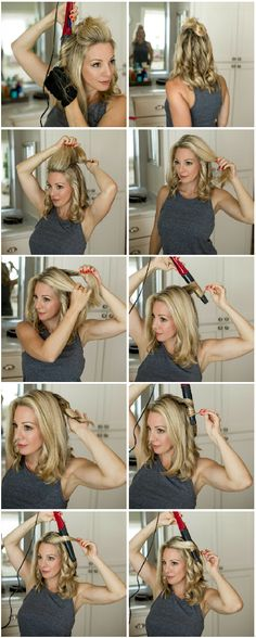 How to Curl Your Hair for Loose Waves (Honey We're Home) I am so happy to finally have my hair curling tutorial ready for you today! Y'all are so sweet and know how to make a girl feel good about her hair and this is one of the biggest requests I get- to Curls For Medium Length Hair, Curls For Long Hair, Curls Hair, Hair Medium, Curled Hairstyles For Medium Hair, Funky Hairstyles, Formal Hairstyles, Wavy Hair, Blonde Hair