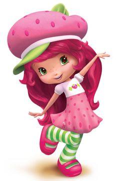 Olivia as Strawberry Shortcake for Halloween
