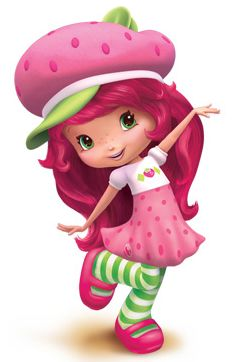 Olivia as Strawberry Shortcake for Halloween