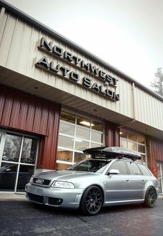 We just finished washing this, for Josh's trip up to Whistler. One of three real Audi B5 RS4 Avants in US. Thanks for bringing it by QuattroWorld.com!