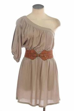 This would be so cute with a pair of cowboy boots in same color as belt!