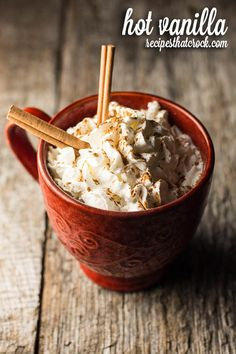 Try this delicious Hot Vanilla recipe for a switch-up from your standard hot chocolate this winter. It's a real treat!
