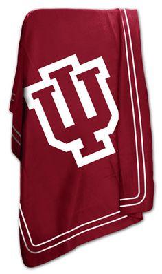NCAA University of Indiana Classic Fleece Throw