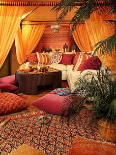 diy morrocan zen room | Moroccan Themed Bedroom : Wonderful Mediterranean Living Room Moroccan ...